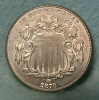 1870 SHIELD NICKEL BRILLIANT UNCIRCULATED    UNITED STATES C