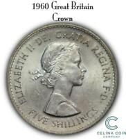 1960 GREAT BRITAIN CROWN BRITISH SILVER COIN CELINACC