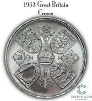 1953 GREAT BRITAIN CROWN BRITISH COIN CELINACC