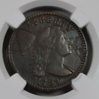 1794 LIBERTY CAP 1CENT NGC VF DETAILS LOOKS EXTRA FINE , CORROSION
