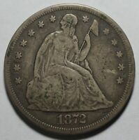 1872 SEATED LIBERTY SILVER DOLLAR JH29