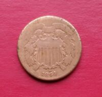 1864 2 CENT TWO CENT PIECE
