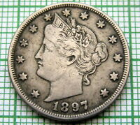 UNITED STATES 1897 5 CENTS - LIBERTY NICKEL
