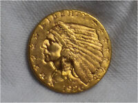 1926 $2.50 QUARTER EAGLE INDIAN HEAD GOLD COIN UNCIRCULATED