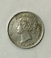 CANADA 1901 10 CENTS SILVER VICTORIA DECENT SHARP GRADE COIN NICE APPEARANCE