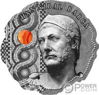 HANNIBAL BARCA STONE ANCIENT COMMANDERS SILVER COIN 500 FRAN