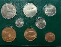 IRELAND 8 PIECE UNCIRCULATED SET 1952 1959 IN GREEN BOX HORS