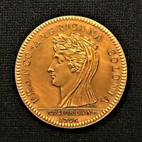 1796  CASTORLAND MEDAL IMPAIRED PROOF BRONZE WELL STRUCK W/BRIGHT COLOR BU