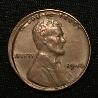 1946 US LINCOLN CENT  WHEAT PENNY    ERROR COIN   BROADSTRUCK OUT OF COLLAR   AU