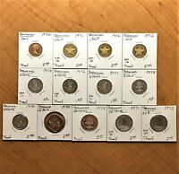 LOT OF THIRTEEN  13  BAHAMAS PROOF COINS 1970 TO 1978 VARIETY AND NICE