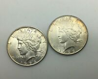 1923 S & 1926 S SILVER DOLLAR LUSTROUS COINS LOT OF 2 PLEASING PIECES