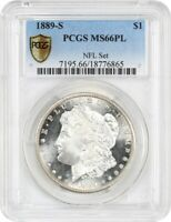 1889-S $1 PCGS MINT STATE 66 PL EX: NFL SET -  PROOFLIKE MORGAN