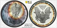PR69DCAM 1993 $1 SILVER EAGLE ASE DOLLAR, PCGS SECURE- TONED CAMEO PROOF
