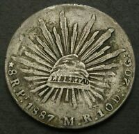 MEXICO 8 REALES 1887PI MR   SILVER   F/VF   559
