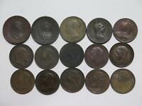 GREAT BRITAIN FARTHING GEORGE VICTORIA MIXED TYPE WORLD COIN