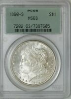 1890-S MORGAN DOLLAR $ MINT STATE 63 OLD GREEN LABEL PCGS 942303-1
