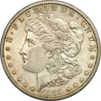 1889-S MORGAN DOLLAR, ABOUT UNCIRCULATED, S$1 C00048622