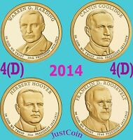 2014-D PRESIDENTIAL HARDING COOLIDGE HOOVER ROOSEVELT FOUR UNC DOLLARS SET