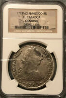 1783 8 REALES MEXICAN SILVER SHIPWRECK COIN NGC GRADED GENUI