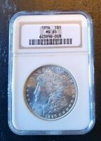 1896 MINT STATE 65 MORGAN SILVER DOLLAR SILVER COIN NGC  MINT STATE 65