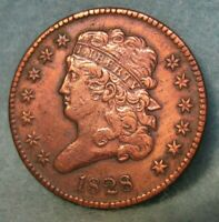 1828 CLASSIC HEAD HALF CENT   UNITED STATES COIN