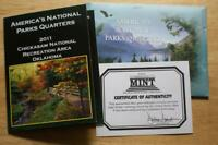 2011 AMERICA BEAUTIFUL CHICKASAW NATIONAL REC AREA GOLD COLO