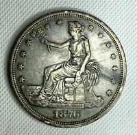 HIGH GRADE    1876 TRADE DOLLAR SILVER  EE0329