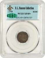 1795 H10C PCGS/CAC EXTRA FINE 45 EX: D.L. HANSEN - CHOICE EARLY HALF DIME