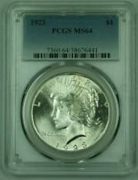 1923 PEACE SILVER DOLLAR PCGS MINT STATE 64 25 D UNDERGRADED