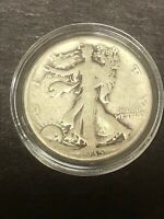 1935D WALKING LIBERTY SILVER HALF DOLLAR IN CAPSULE