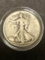 1936P WALKING LIBERTY SILVER HALF DOLLAR IN CAPSULE