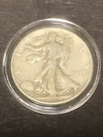 1938P WALKING LIBERTY SILVER HALF DOLLAR IN CAPSULE