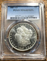 1887 O MORGAN DOLLAR PCGS MINT STATE 64 DIMPLE