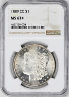 1889-CC MORGAN S$1 NGC MINT STATE 63