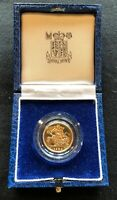 1984 GREAT BRITAIN PROOF GOLD HALF SOVERIEGN WITH BOX