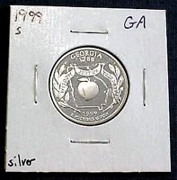 1999 S SILVER PROOF GEORGIA STATE QUARTER  MIN. BID .01 &