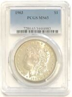 1903-P $1 MORGAN SILVER DOLLAR PCGS MINT STATE 65, GREAT COIN