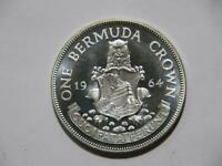 BERMUDA 1964 CROWN PROOF SILVER WORLD COIN  1