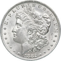 1882 MORGAN SILVER DOLLAR CHOICE BU US MINT COIN