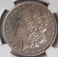 1881-O AU55 CERTIFIED BY NGC AS AU 55 MORGAN DOLLAR 90 SILVER COIN 035