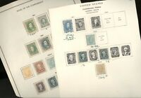 CONFEDERATE STATES OF AMERICA ASSORTMENT OF STAMPS HINGED ON