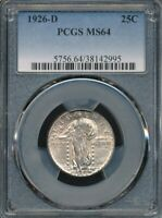 1926-D STANDING LIBERTY QUARTER PCGS MINT STATE 64 STONE COLD ORIGINAL TONING