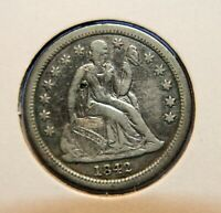 1842 SEATED LIBERTY DIME 10  VF DETAILS BETTER DATE ID CT337