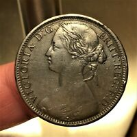 1862 GREAT BRITAIN PENNY KM 749.2