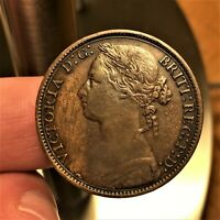 1879  LARGE DATE; RAISED LINES  GREAT BRITAIN PENNY KM 755