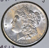MS UNCIRCULATED/UNC 1890-P  MORGAN SILVER DOLLAR $1 COIN