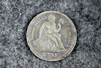 ESTATE FIND 1891 S  SEATED LIBERTY DIME  D24560