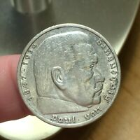 1935 A GERMANY   THIRD REICH 5 REICHSMARK SILVER COIN KM 86 XF 2625