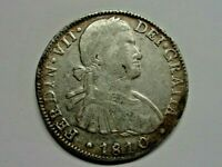 1810 MEXICO 8 REALES SPANISH COLONIAL SILVER COIN