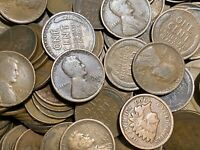 2500   1909 1919 TEENS LINCOLN WHEAT PENNIES CIRCULATED MIX
